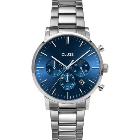 CW0101502011  Aravis Chrono Steel Dark Blue, Silver Colour