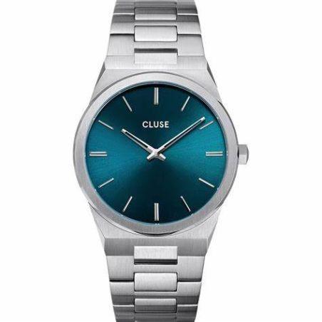 CW0101503003  Vigoureux Steel Petrol Blue, Silver Colour