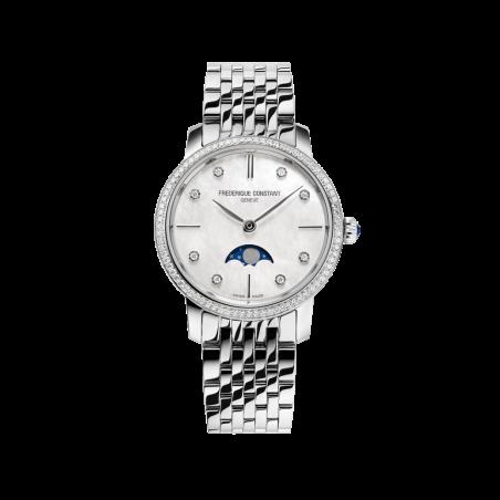 שעון Frederique Constant Slimeline Ladies Moonphase FC-206MPWD1SD6B