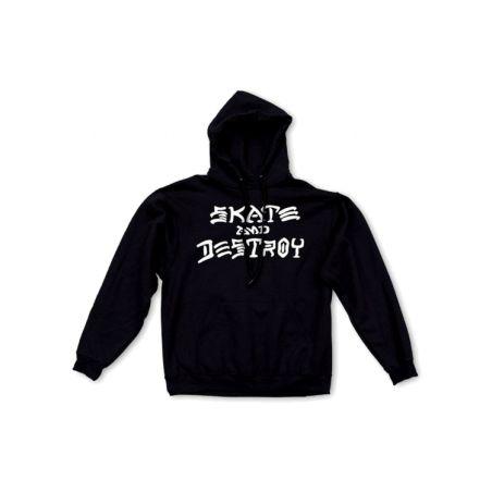 Thrasher - סווטשירט Skate And Destroy בשחור