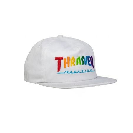 Thrasher - כובע Rainbow לבן