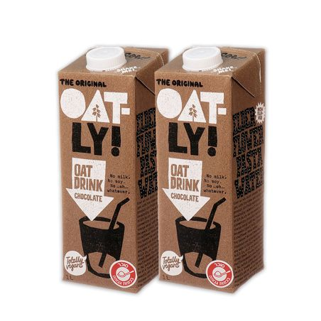 אוטלי משקה שיבולת שועל בטעם שוקולד 1 ליטר -מארז 2 יחידות