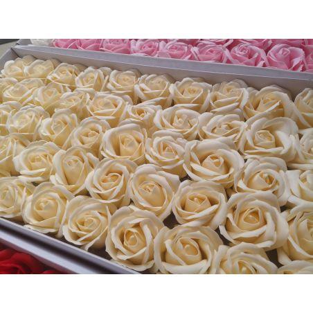 פרחים בצבע שמנת - 10 יחידות
