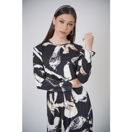 שמלת בית אלגנטית דגם פיקאסו