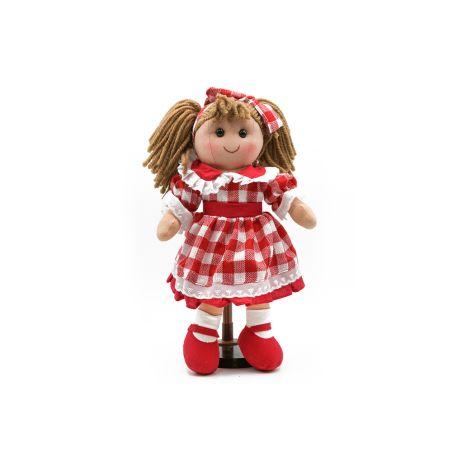 בובת אנושקה בפפיטה אדום-לבן