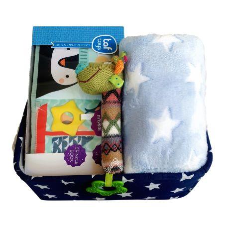 8# - אושר ענוג לבן : קופסת צעצועים, ספר בד