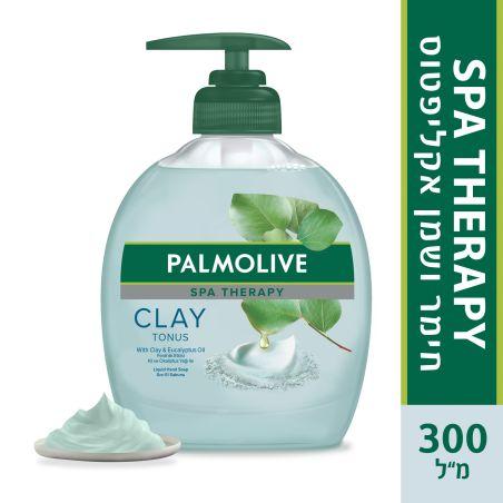 פלמוליב סבון ידיים Tonus עם בחימר ושמן אקליפטוס 300 מ'ל