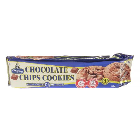 מרבה עוגיות 37% שוקולד צ'יפס 225 גרם
