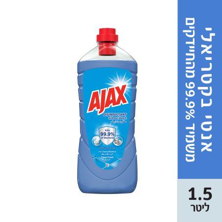 אג'קס אנטי בקטריאלי בניחוח רעננות הניקיון 1.5 ליטר