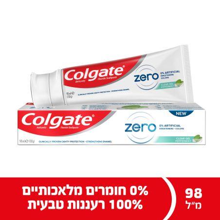 קולגייט משחת שיניים זירו פפרמינט ללא חומרים מלאכותיים 98 מ