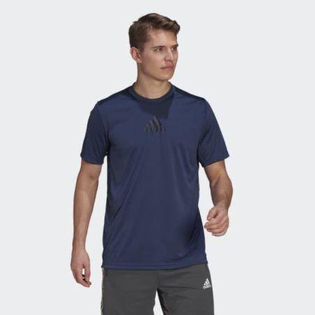 חולצת אדידס לגבר | Adidas Primeblue Designed To Move 3-Stripes Tee
