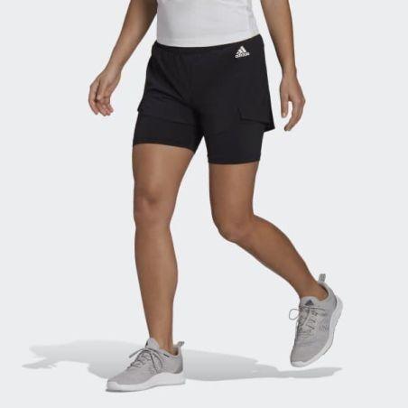 שורט אדידס נשים | Adidas Primeblue Designed To Move 2-in-1 Shorts