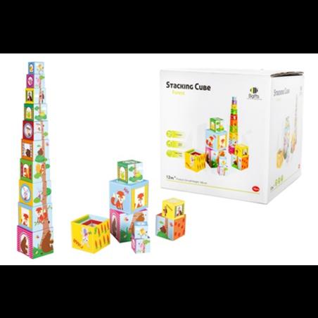 מגדל קוביות צבעוני