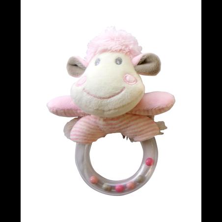 רעשן טבעת - כבשה ורודה