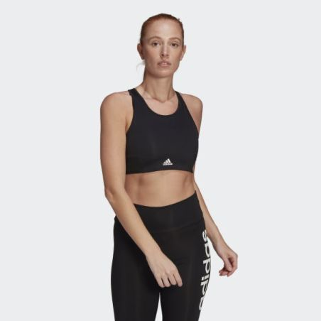 חזיית אדידס | Adidas Aeroready Designed 2 Move 3-Stripes Sports Bra