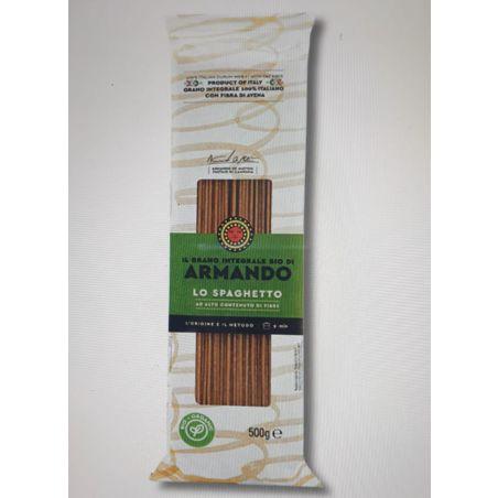 ספגטי מחיטת דורום אורגנית מלאה בתוספת סיבי שיבולת שועל  500 גרם