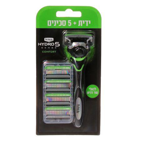 מארז שיק היידרו סנס מכשיר גילוח + 5 סכינים