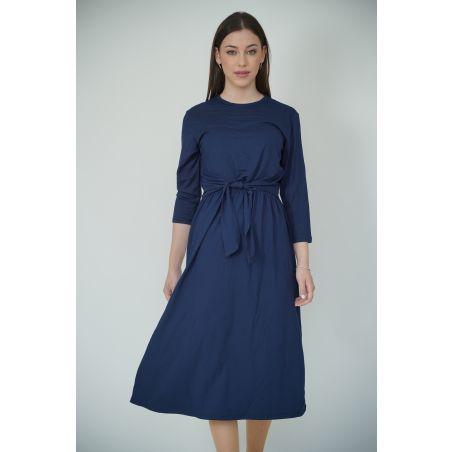 שמלת נוחות קלאסית// כחול