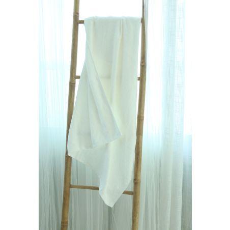 מגבת במבוק ענקית 1.40*90 | לבן