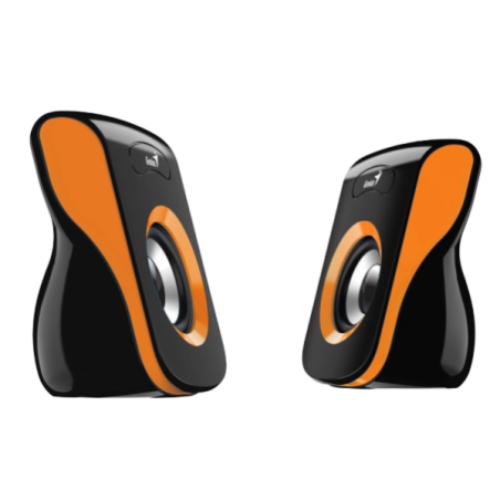 רמקולים GENIUS SP-Q180 USB פס כתום