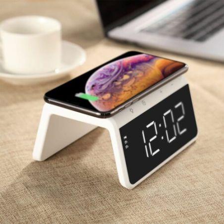 שעון מעורר עם תאורת לילה וטעינה אלחוטית Eco WCH 450