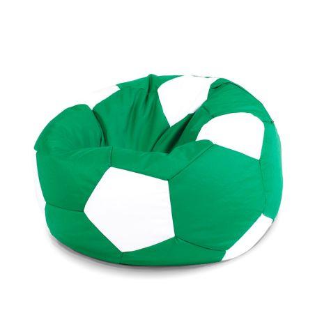פוף כדורגל - ירוק לבן