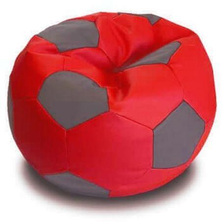 פוף כדורגל - אדום עפור - BIG