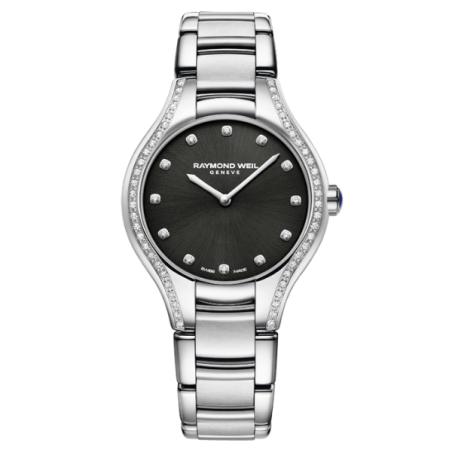 שעון Raymond Weil Noemia Ladies Quartz 64 Diamond Black