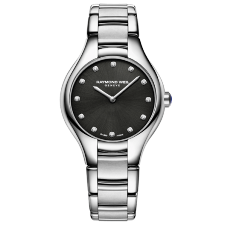 שעון Raymond Weil Noemia Ladies Quartz 12 Diamond Black