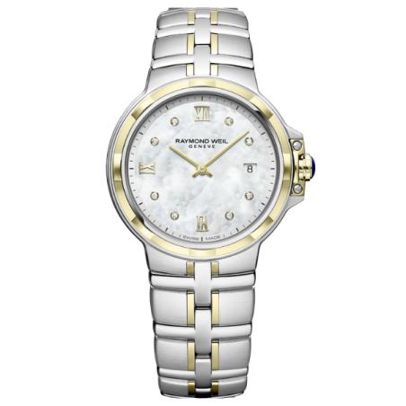 שעון Raymond Weil Parsifal Ladies Quartz Classic 8 Diamond Dial 30mm