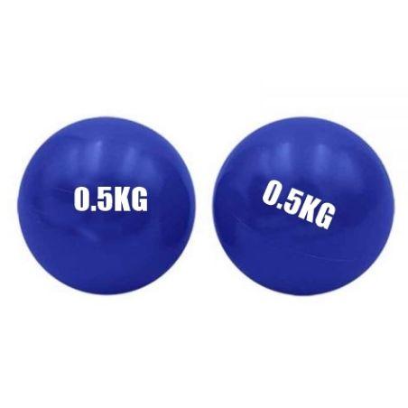 זוג כדורי פילאטיס משקל גמישים 0.5 ק