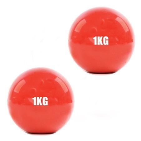 זוג כדורי פילאטיס משקל גמישים 1 ק