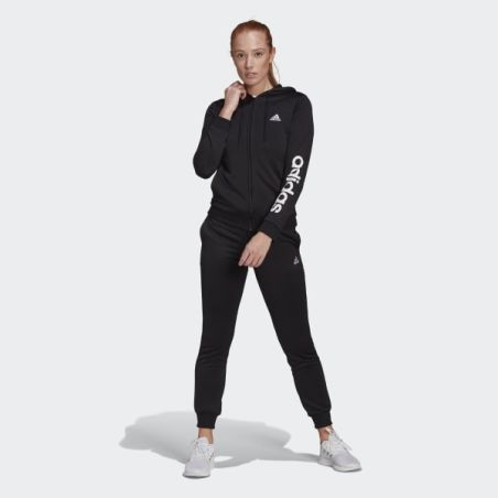 חליפת ספורט אדידס לנשים ונוער | Adidas Essentials Logo French Terry Tracksuit