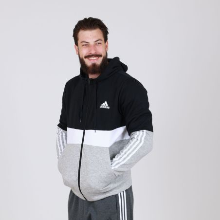 קפוצ'ון אדידס לגברים   Adidas Essential Fleece Full Zip Hoodie