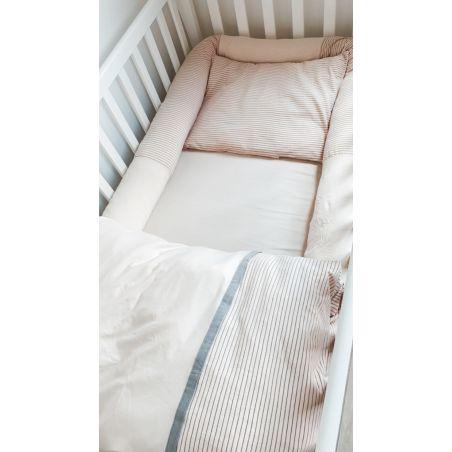 סט מלא למיטת תינוק | אפרסק מים AQUA
