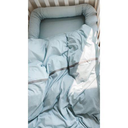 סט מלא למיטת תינוק | תכלת מים AQUA