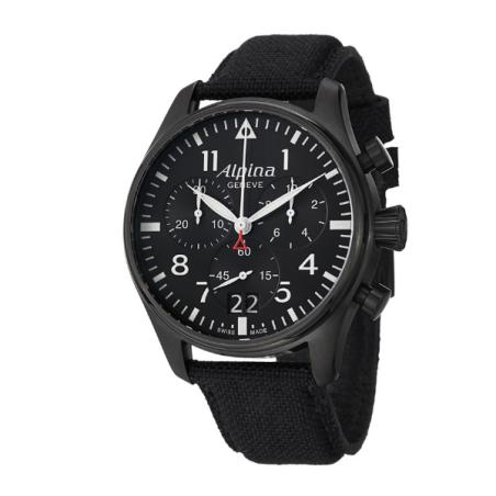 שעון Alpina Startimer Pilot Big Date Chronograph Black