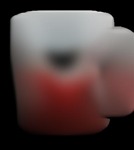 ספל אומברה כסוף אדום