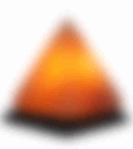 מנורת גביש מלח הימלאיה בצורת פירמידה
