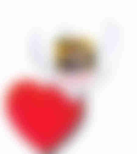 הדפסה על כרית נוי בצורת לב פרווה