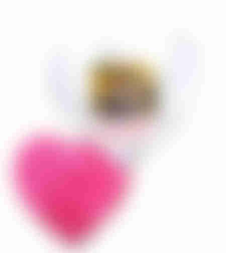 הדפסה על כרית נוי בצורת לב סאטן