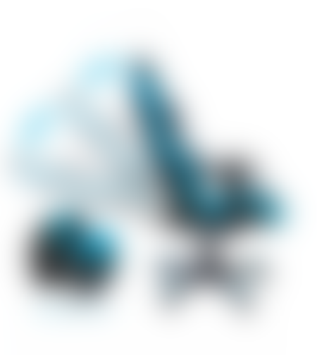 מושב גיימינג SPARKFOX בטקסטורת מעויינים כחול
