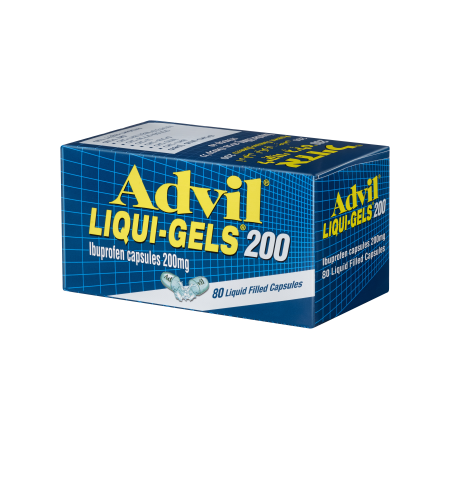 אדויל ליקווי ג'לס, 80 כמוסות ג'ל - Advil LIQUI-GELS (Ibuprofen 200mg)