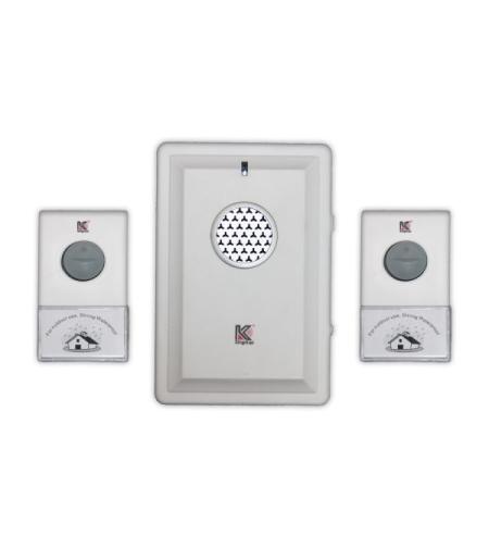 פעמון דלת אלחוטי עם 2 לחצנים D034K-2