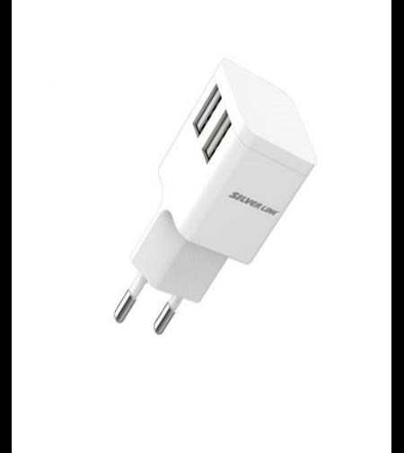 מטען אוניברסלי בעל 2 יציאות USB בעיצוב קומפקטי