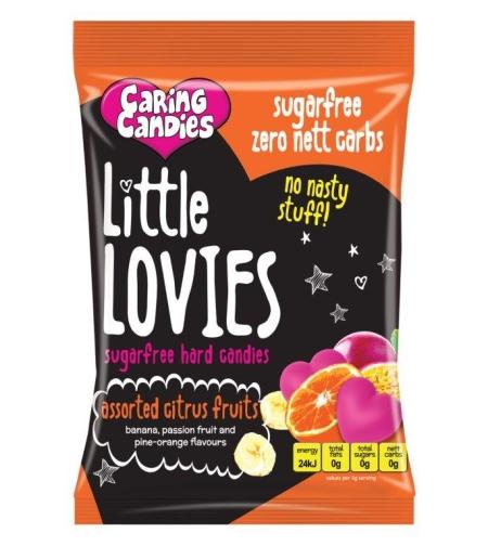 ליטל לוביז - סוכריות קשות ללא סוכר בטעם פירות הדר 100 ג