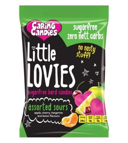 ליטל לוביז - סוכריות קשות ללא סוכר בטעם פירות חמוציים 100 ג
