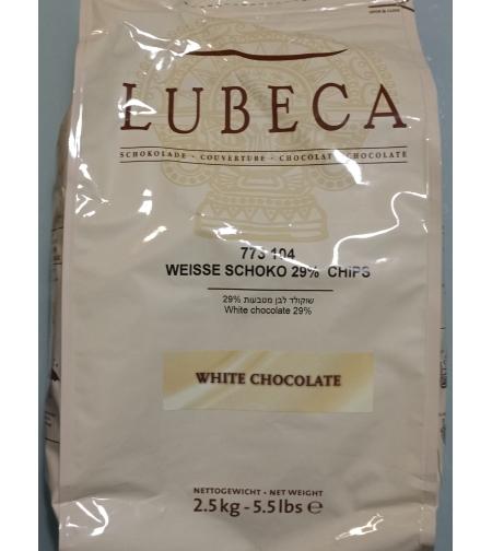 שוקולד לבן 2.5 קילו LUBECA