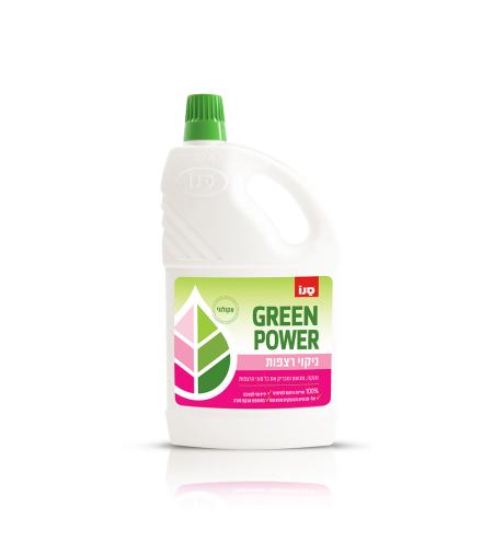 סנו GREEN POWER - ניקוי רצפות אקולוגי
