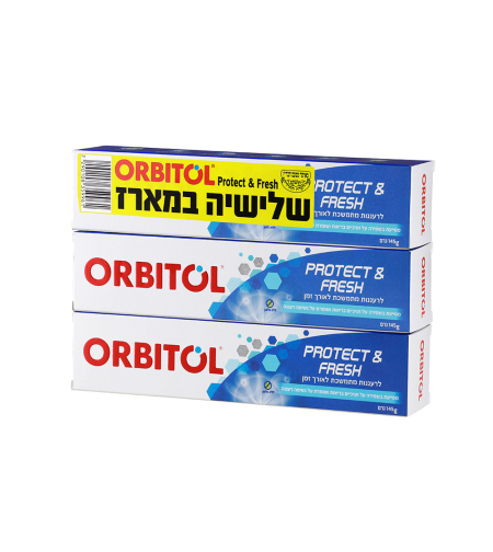 משחת שיניים Protect & Freash 145 גרם 3X
